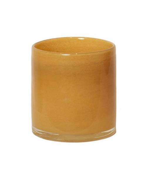 Lysholder, 10 cm gul